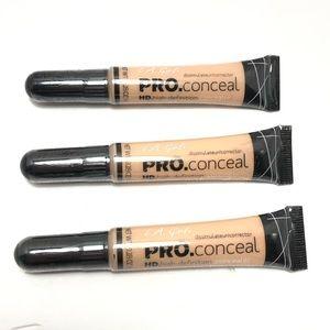 LA Girl 3 Pack PRO Conceal HD Concealer Corrector
